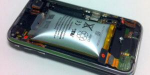 smartphone battery swollen